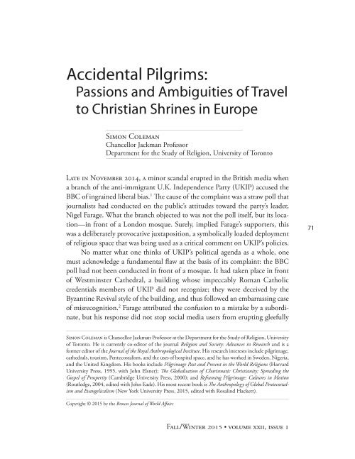 accidental pilgrims