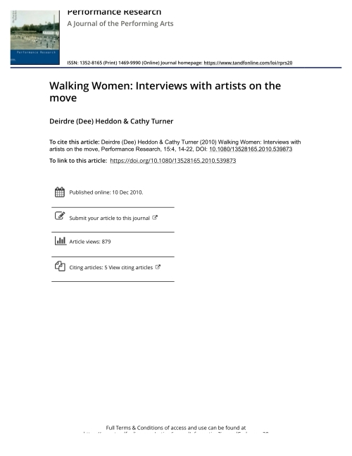 heddon and turner walking women interviews