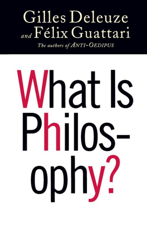 deleuze guattari what is philosophy